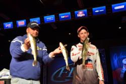 Mercury pro Ed Stachowski of Canton, Mich., brought an 8-pound, 2-ounce limit to the stage today boosting him to third place.