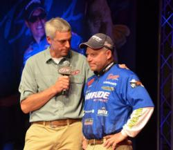 Evinrude pro Chris Gilman stayed consistent by weighing 6 pounds, 1 ounce moving his three-day total to 15-5, good enough for the fifth spot heading to the final day.
