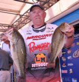 Larry Jones of Acworth, Ga., holds down the fourth place spot on day one with a limit for 10 pounds, 13 ounces