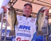 Koby Kreiger of Okeechobee, Fla., nabbed second place after day one with a limit weighing 12 pounds, 5 ounces.