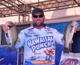 Local pro Jim Dillard of West Monroe, La., settled into the fifth spot on day one with a five-bass limit weighing 10 pounds, 11 ounces.