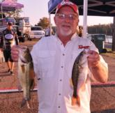Tony Spinks of Springfield, Mo., leads the Co-angler Division of EverStart Championship with a two-day total of  14-9.