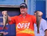 Kent Ware of Wadmalaw Island, S.C., climbed from 20th to fourth place on day three thanks to his best performance of the week - 9 pounds, 14 ounces - which gives him a three-day total of 25 pounds, 4 ounces.