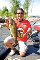 Vatalaro says tubes are great finesse lures that can be made to imitate baitfish or crawfish.