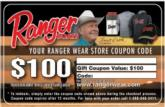 $100 Ranger Boats gift card.
