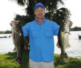 William Wood of West Palm Beach, Fla., leads the Co-angler Division of the Everstart Series event on Okeechobee after day one with a five-bass limit weighing 20 pounds, 5 ounces.