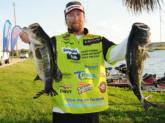 Straight Talk pro JT Kenney of Palm Bay, Fla., is in third with 22 pounds, 5 ounces.