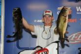 Kyle Monti of Okeechobee, Fla., landed in fourth place after day one with a five-bass limit weighing 21 pounds, 5 ounces.