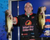 Chris Brill of Lehigh Acres, Fla., took the second spot after day one with a five bass limit weighing 24 pounds, 1 ounce.