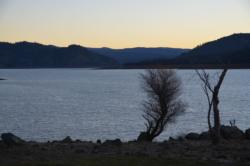 A panoramic view of Lake Oroville.