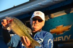 Glen Lockhart of Biggs, Calif., used a 13-pound catch to propel him all the way into the runner-up position heading into Friday's competition