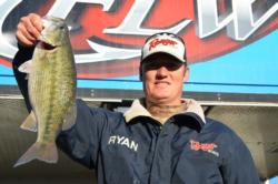 Pro Ryan Friend of Oroville, Calif., parlayed a 12-pound, 8-ounce catch into a third-place result on Lake Oroville during the first day of competition.