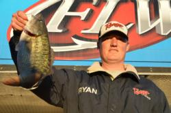 Pro Ryan Friend of Oroville, Calif., parlayed a two-day catch of 24 pounds, 5 ounce into a second-place finish after Friday's competition.