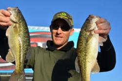 Pro Alax Parker of Oroville, Calif., used a catch of 21 pounds, 4 ounces to net sixth place overall heading into the finals on Lake Oroville.