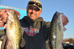 Jack Farage of Discovery Bay, Calif., took over the top spot in the Co-angler Division after registering a total, two-day catch of 20 pounds, 7 ounces.