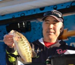 Co-angler Gary Haraguchi of Redding, Calif., netted a third-place finish at Lake Oroville.