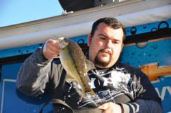 Co-angler David Avina of Sun City, Calif., managed a fourth-place finish at Lake Oroville with a total catch of 27 pounds, 6 ounces.