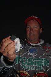 To counteract short-striking fish, Ranger pro Stephen Johnston will fish a V&M chatterbait with no trailer.