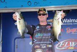 Day-one co-angler leader Daren Scott maintained his position on day two.