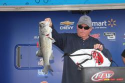 Walter Caddell caught the largest bass of the co-angler division - a 6-10.