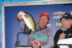 Staying shallow and fishing the grass was essential for third-place Stephen Johnston.