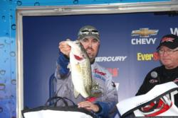 Kris Wilson used a Sixth Sense deep diving crankbait to earn fifth place.