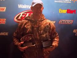 Co-angler Creighton Johnson of Canton, Ga., won the Feb. 9 Walmart BFL Choo Choo Division event on Lake Guntersville. Creighton recorded a total catch of 25 pounds, 14 ounces to win more than $2,700.