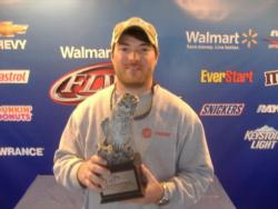 Co-angler Dustin Shirley of Royston, Ga., won the Walmart BFL Savannah River Division event on Lake Keowee. Shirley landed a total catch of 12 pounds, 11 ounces to net nearly $2,900 in winnings.