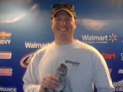 Boater Adam Rice of Anderson, S.C., tied for first place at the Walmart BFL Savannah River Division event on Lake Keowee. Rice recorded a total catch of 15 pounds, 12 ounces to take home more than $4,300 in winnings.
