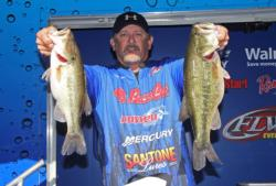 In second place, Kelly Owens caught his fish traditional prespawn areas with moving baits.