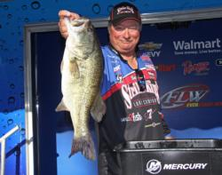Strike King pro  Denny Brauer caught the day