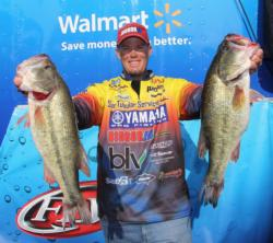 After starting shallow, Keith Combs moved offshore and added a few more good fish to his sack.