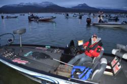 EverStart anglers were bundled head to toe as temperatures were below freezing during opening takeoff on Lake Roosevelt.