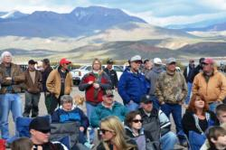 A good crowd was on hand to witness opening-round weigh-in at Lake Roosevelt.