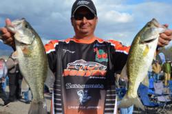 Co-angler Tony Zanotelli of Redding, Calif., parlayed a total catch of 10 pounds, 11 ounces into a third-place finish in today's EverStart competition on Lake Roosevelt.