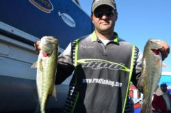Daniel Leue of Colusa, Calif., grabbed the No. 1 qualifying spot heading into the final day of co-angler competition on Lake Roosevelt.