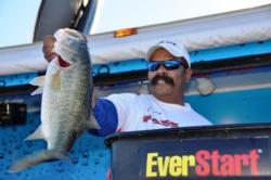 Gerard Thomas of Ralston, W.Va., landed a 5-pound, 8-ounce largemouth to net the day's big-bass honors in the Co-angler Division.