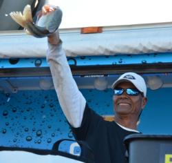 Veteran pro angler Ri Nay of Tucson, Ariz., finished the Lake Roosevelt event in third place with a total catch of 24 pounds, 10 ounces.