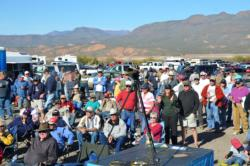 A packed crowd was on hand to witness the EverStart Series final-day weigh-in on Lake Roosevelt.