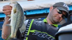 Day-two co-angler leader Daniel Leue of Colusa, Calif., ultimately finished the Lake Roosevelt event in fourth place.