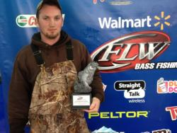 Co-angler Tripp Toney of Rutherfordton, N.C., won the North Carolina Division event on Lake Norman with a total weight of 12 pounds, 2 ounces. For his victory, Toney earned a check worth over $2,000.