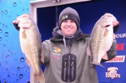Nick Cupps of Decatur, Ala., leads the Co-angler Division after day one with a limit for 25-13
