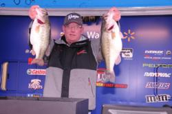Robert Boyd of Russellville, Ala., moved to fifth place with a 29-pound, 4-ounce catch today for a two-day total of 50 pounds, 2 ounces.