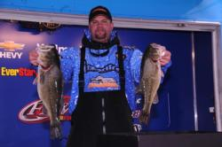 Darren Jeter of Marshall, N.C., sacked 20 pounds, 11 ounces today to take the lead in the Co-angler Division with a two-day total of 32 pounds, 13 ounces.