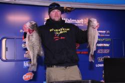 James McMullen of Quakertown, Penn. is in second place with a two-day total of 57-1