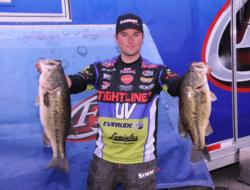 Justin Lucas of Guntersville, Ala., weighed in 29 pounds, 13 ounces today for two-day total of 53 pounds, 1 ounce.