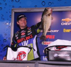 Justin Lucas of Guntersville, Ala., finished third with a three-day total of 81 pounds.