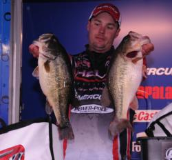 Despite weighing in fish like these all week, Alex Davis of Albertville, Ala., finished runner-up with a three-day total of 84 pounds, 5 ounces.