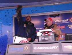 Co-angler Jim Austin of Lithonia, Ga., finished third with 36-6.