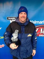 Co-angler Bryan Rupe of Mayfield, Ky., won the March 2 LBL Division event on Kentucky/Barkley lakes with a 22-pound limit. His efforts earned him nearly $2,500 in tournament winnings.